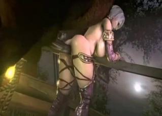 3D zoo porn with a horny elf hottie