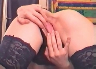 Tight pussy nicely drilled by a horny doggy