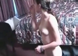 Awesome black dog nailed a skinny young hoe